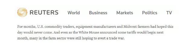 """外媒: 贸易战做法遭本国农民抨击,特朗普""""与天下为敌""""不得人心"""